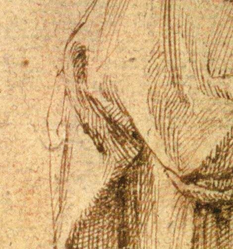 Study of a Mourning Woman, edge of fold