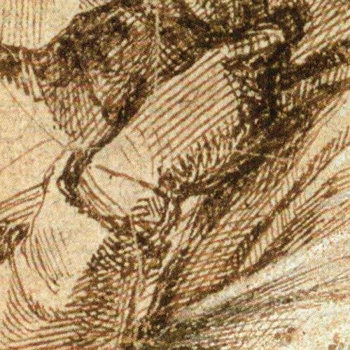 Study of a Woman in Moruning, multiple straight lines (1)