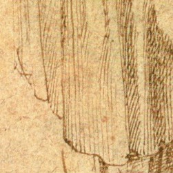 Study of a Woman in Moruning, multiple straight lines (3)
