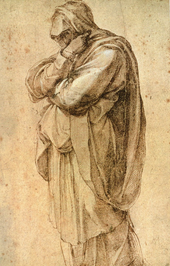 Study of a Woman in Mouring, scan