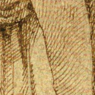 Study of a Woman in Mourning, fabric bending in multiple directions (3)