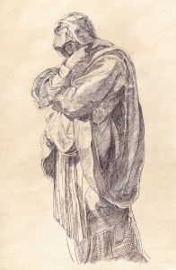 Study of a Woman in Mourning