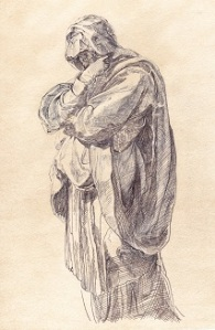 Study of a Mourning Woman